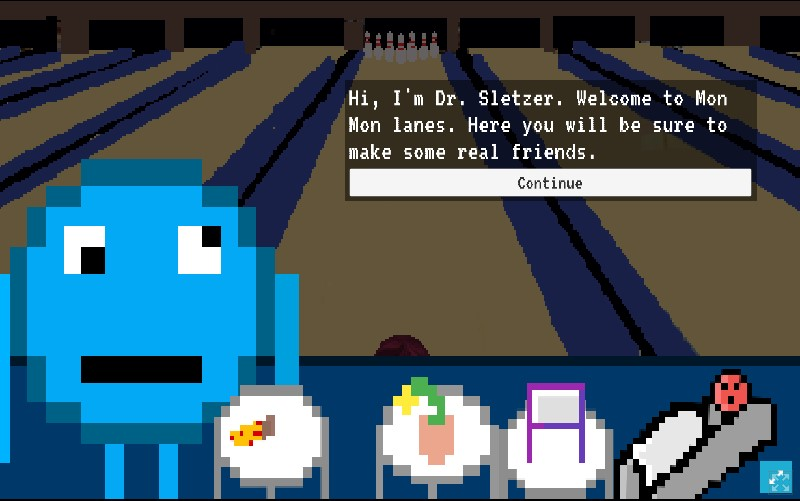 Dr. Sletzer is the first monster you meet.